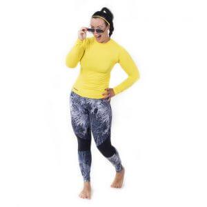 Aguamiu musta-harmaat vesiurheiluleggings - rannalle ja liikuntaan