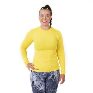 Aguamiu keltainen uv-suojattu uimapaita vesiurheiluun - edestä
